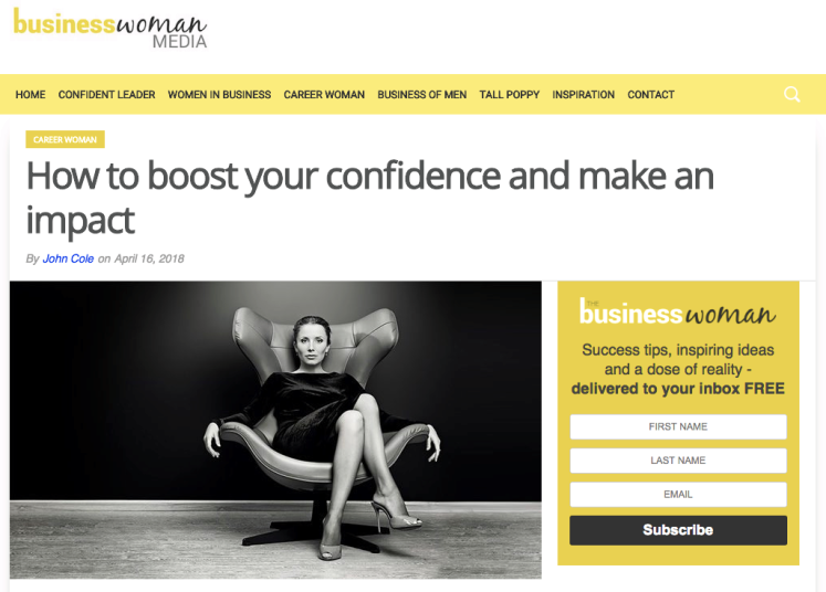 How to boost your confidence and make an impact